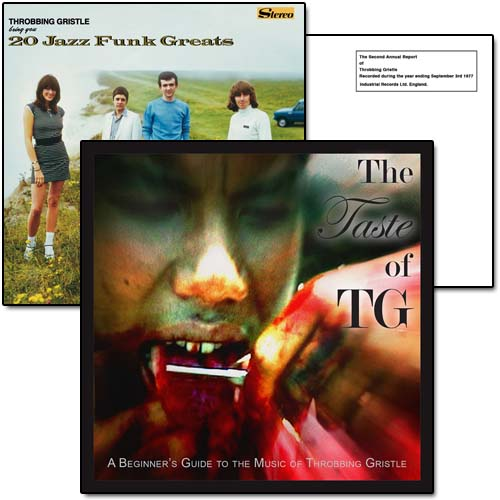 Throbbing Gristle The Second Annual Report 20 Jazz Funk Greats The Taste Of TG A Beginners Guide To Throbbing Gristle CD Cover