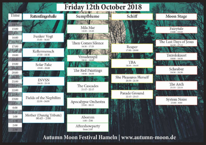 autumn moon running order fri kl