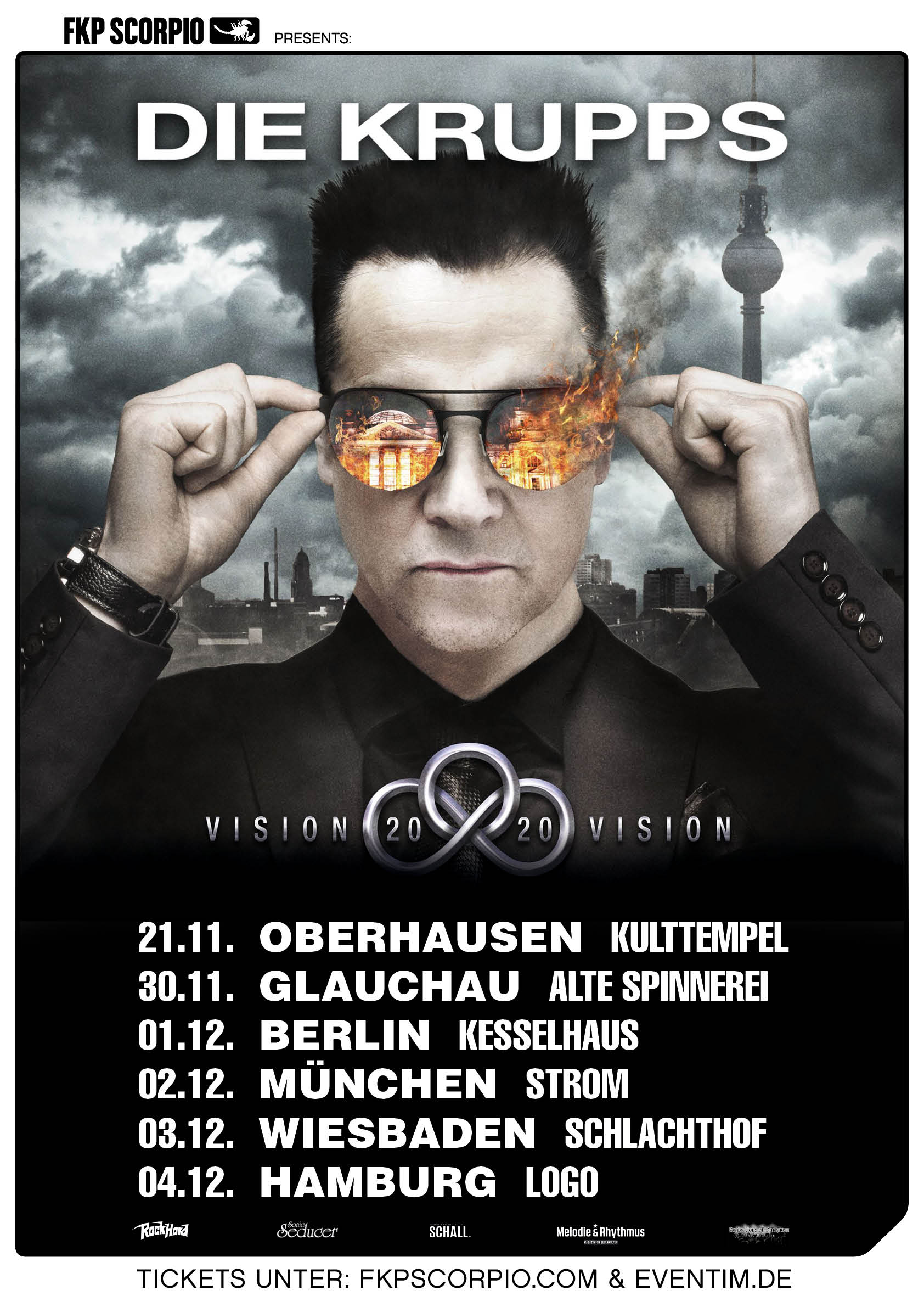 Die Krupps Tour Poster Germany