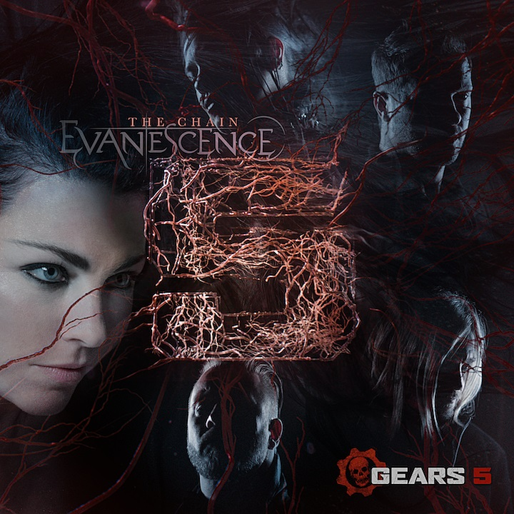 Evanescence Chain Gears of War Cover Art