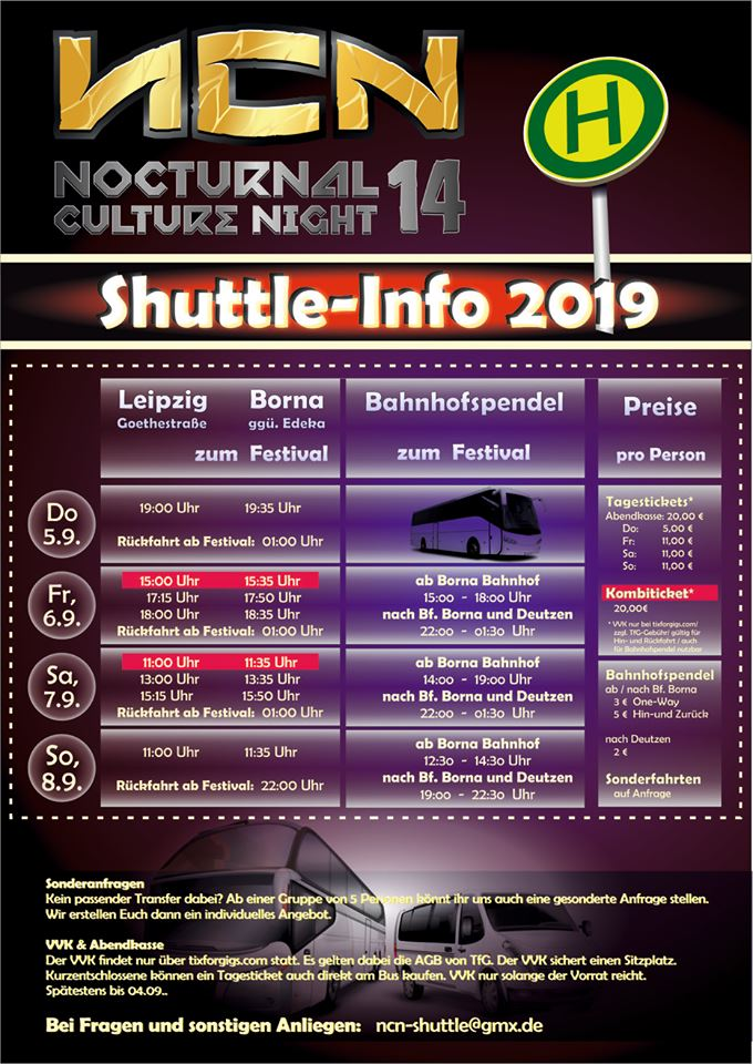 ncn shuttle bus info