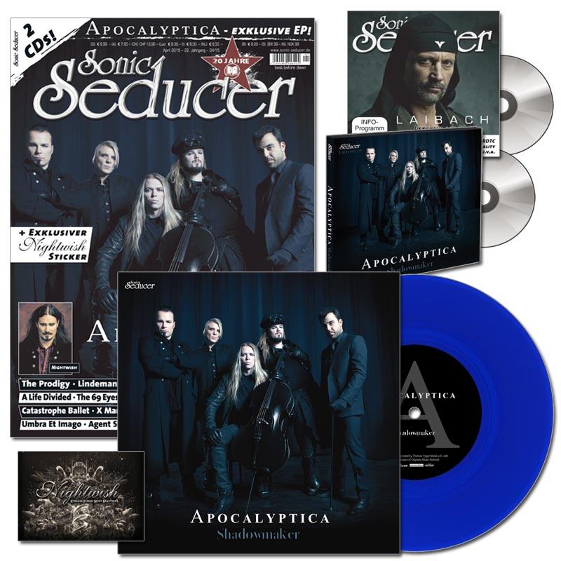 Sonic Seducer 2015-04 limited Edition mit Apocalyptica Vinyl Single
