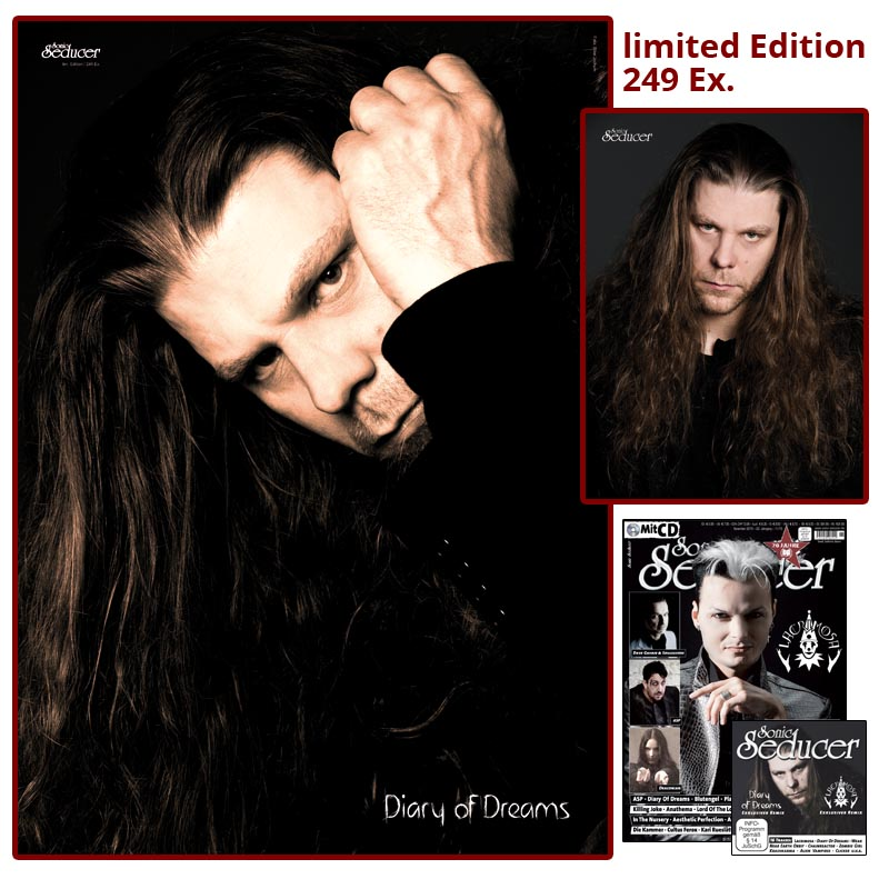 Sonic Seducer 11/2015 limited Edition plus Poster & Autogrammkarte von Diary Of Dreams