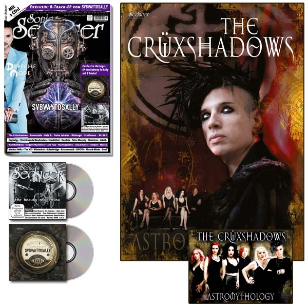 Sonic Seducer 03/2017 + A1-Poster und Sticker von The Crüxshadows