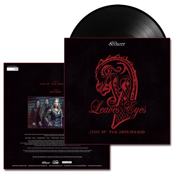 Leaves Eyes Sign Of The Dragonhead Vinyl Single 7 Inch