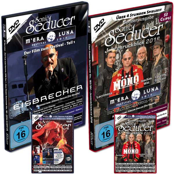 M'Era Luna Festival 2016 DVD-Set / Bundle mit Sonic Seducer Magazinen