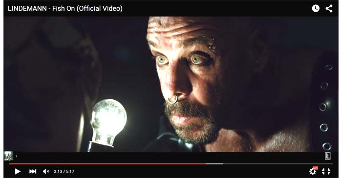 lindemann fish on video clip