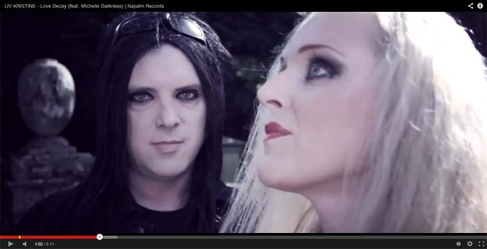 liv kristine love decay video clip
