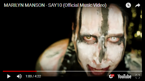 marilyn manson say10 video clip
