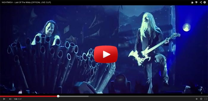 nightwish last of the wilds live video clip