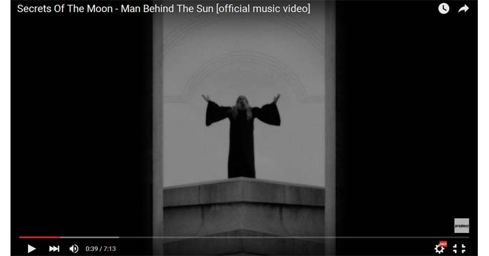 secrets of the moon man behind the sun video clip