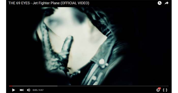 the 69 eyes jet fighter plane video clip